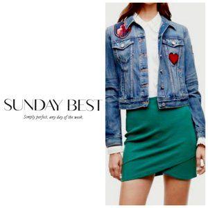 ARITZIA SUNDAY BEST Emerald Green Pull on Skirt
